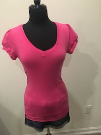New pink lace top size M