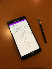 """5.7"""" Samsung unlocked note 4 32GB with S Pen"""