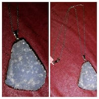 Free Form Crystalized Gemstone Necklace Central Point, 97502