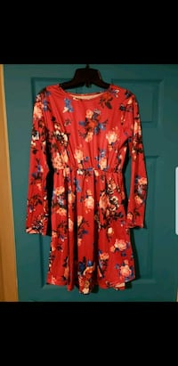 Red floral dress Brampton