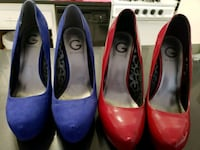 Guess Blue & Red Heels 8.5 wide set 59 km