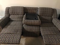 Double Reclining La-Z-Boy Couch with Drop-Down Console Arlington, 22206