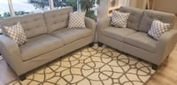 Grey Sofa and Love Seat Orlando