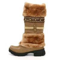 Winter Warm Thick Fur Knee High Boots For Women   Toronto