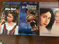 Movies Galore VHS - An American Werewolf In London, The Blue Bird, & The Governess Nottingham, 21236