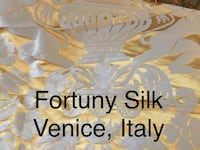 Fortuny Silk Made in Venice, Italy  8 CONTINUOUS YARDS originally over 800+ per yard..!  MINT CONDITION ALWAYS STORED IN SEALED CONTAI ER