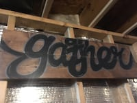 Hand made and painted wooden gather sign Parkersburg, 26101