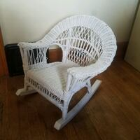 white and brown wooden armchair Cleveland, 44111