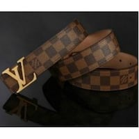 brown and black checkered leather belt Leesburg, 20175