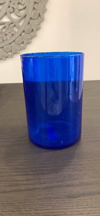 Blue Ikea Cylinder Container