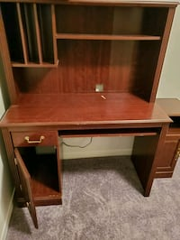 Small desk and cabinet