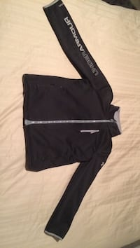 black and gray Under Armour zip-up jacket