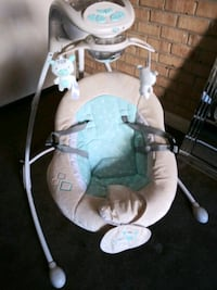 baby's white and teal green rocker and swing. Washington, 20019