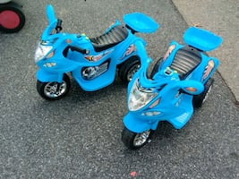 Kids 3-Wheel Motorcycle Ride-On Toy w/ LED Lights,   Both For $120