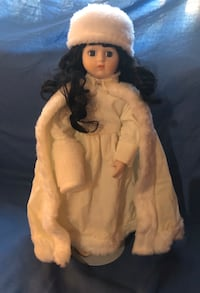 House of Lloyd Porcelain Doll - 1988 White Winter Outfit