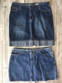 2 Women's Size 10/12 Denim Skirts Winnipeg, R2M