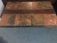 Slate coffee table and two end tables with wood insert Cambridge, N1R 7V8
