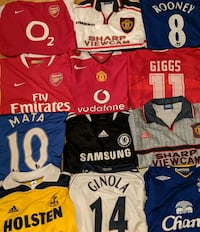 Soccer jerseys for sale, various sizes and prices Edmonton, T5N 0T1