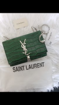 Purse a Green Faux snake skin
