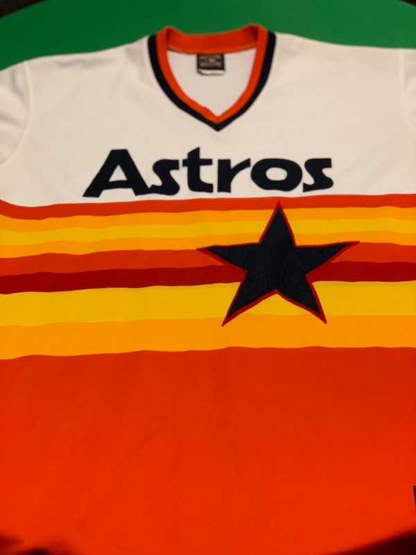 info for 40a32 c2eab Houston Astros vintage throwback jersey