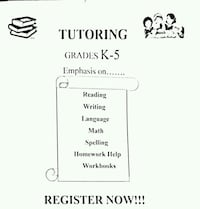 Tutor for Grade K - 5 Brampton, L7A 0B5