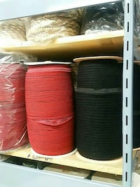 two spooled red and black ropes Vaughan, L4K