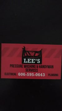 Handyman. Electrical & plumbing& masonary.. Gray