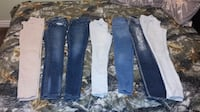 Brand Name Womens Jeans-take all for $60!!- range from size 3-5 or 26, long in length  Lethbridge