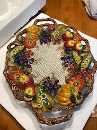 Fitz and Floyd Autumn Harvest serving platter  Manalapan, 07726