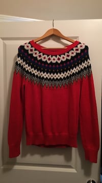Red tribal old navy sweater