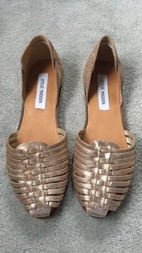 pair of brown leather open-toe sandals Stafford, 22554