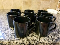 black and gray ceramic mugs Brick, 08724