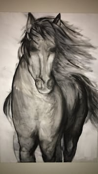 hand painted horse canvas