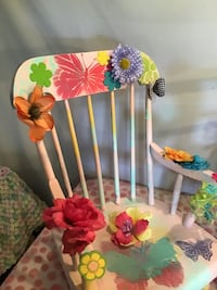 Exquisite girls one of a kind bench with storage and matching rocker