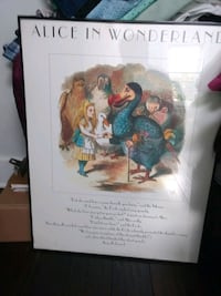 Framed Alice in Wonderland poster  Washington, 20001