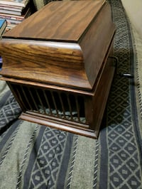 brown wooden framed glass top table Brookfield, 60513