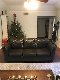 Dark brown leather couch Gainesville, 32608
