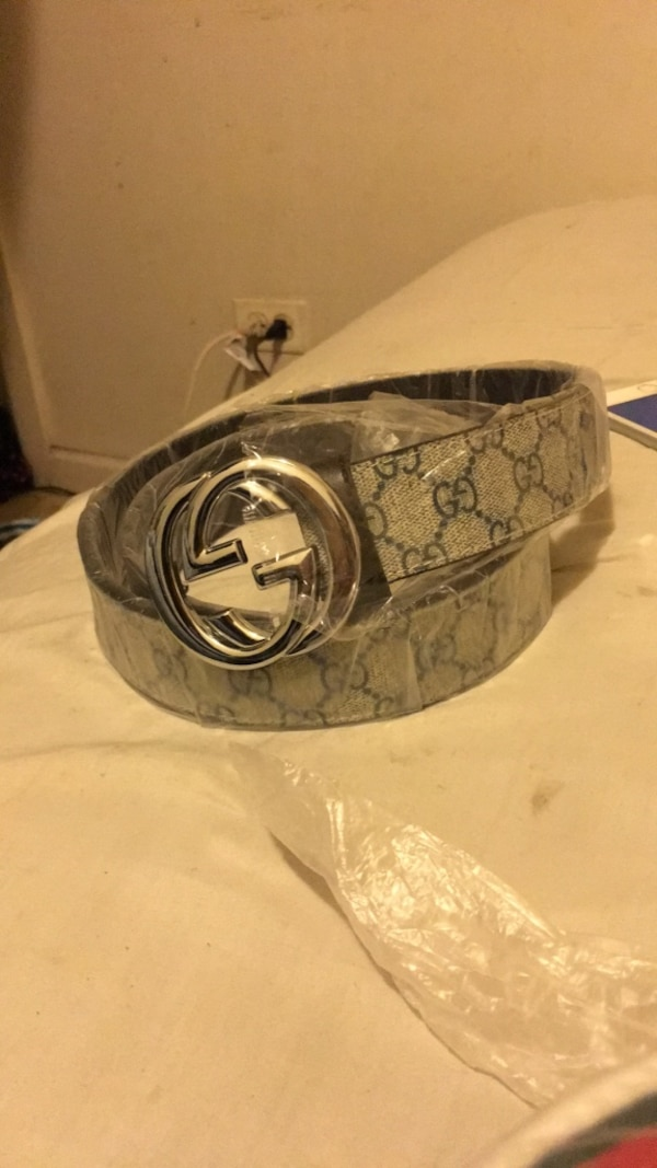d84fc2e4c2b Used silver Gucci buckle with brown leather belt for sale in Chicago ...