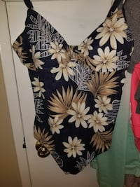 women's brown, white, and beige floral swimsuit Port Coquitlam, V3B 2E4
