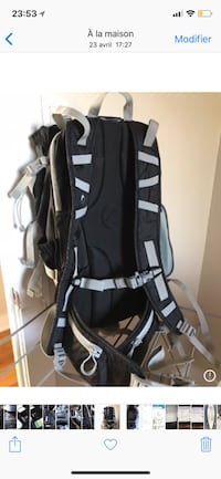 black and white Adidas backpack Montréal, H3B 4X4