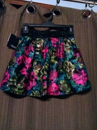 pink, yellow and teal floral mini skirt Waianae, 96792