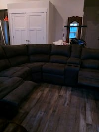 brown fabric sectional sofa with throw pillows West Valley City, 84128