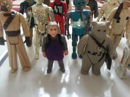 Kenner Star Wars Action Figure LOT w Yoda Han & weapons