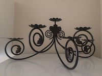 Wrought Iron Candle Holder - holds 6 candles London