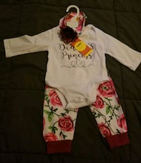 3-6 month outfit  NWT   comes with hat and headband Grand Prairie, 75052