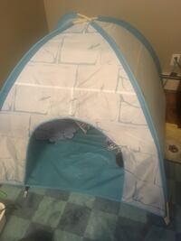 baby's blue and white bassinet Calgary, T2W 2P4