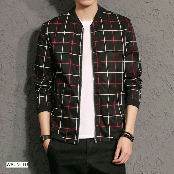 Checkered jackets for men