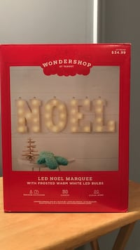 Noel led marquee sign in box