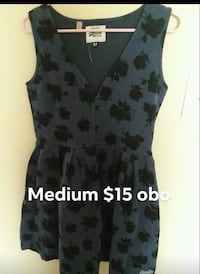 black and gray floral sleeveless dress Carencro, 70520