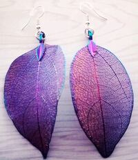 Multicolored Thin Metal Leaf Set of Earrings Sioux Falls, 57104